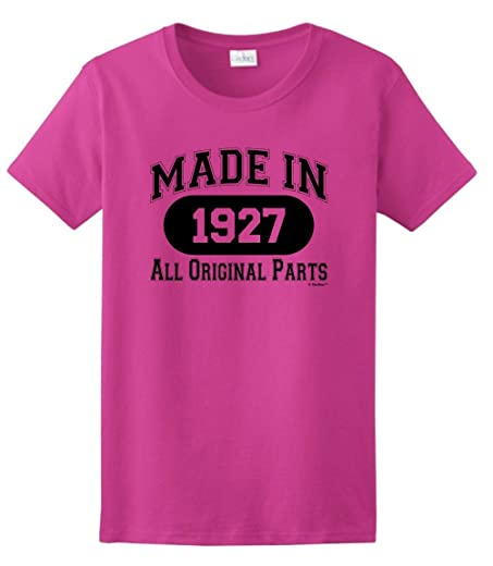 90th Birthday Gifts For Mom Gift Made 1927 All Original Parts Ladies T