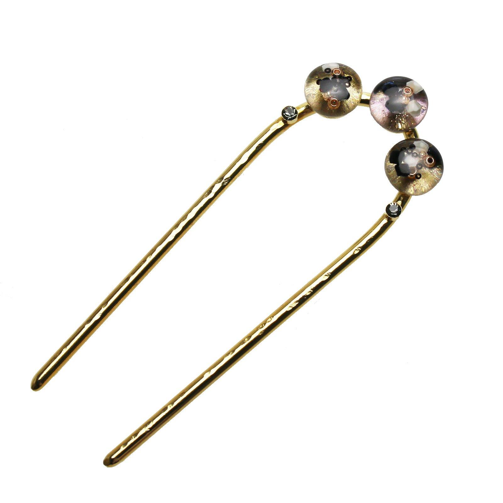 Tamarusan Hair Pin Gold Women Hair Ornament Handmade Hair Stick