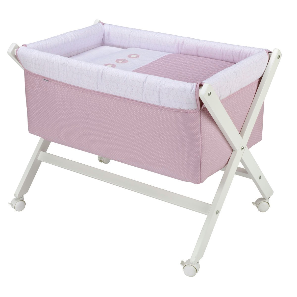 Cambrass Small Bed X Wood Une, 55 x 87 x 74 cm, Pic Pink Cambruss 41220