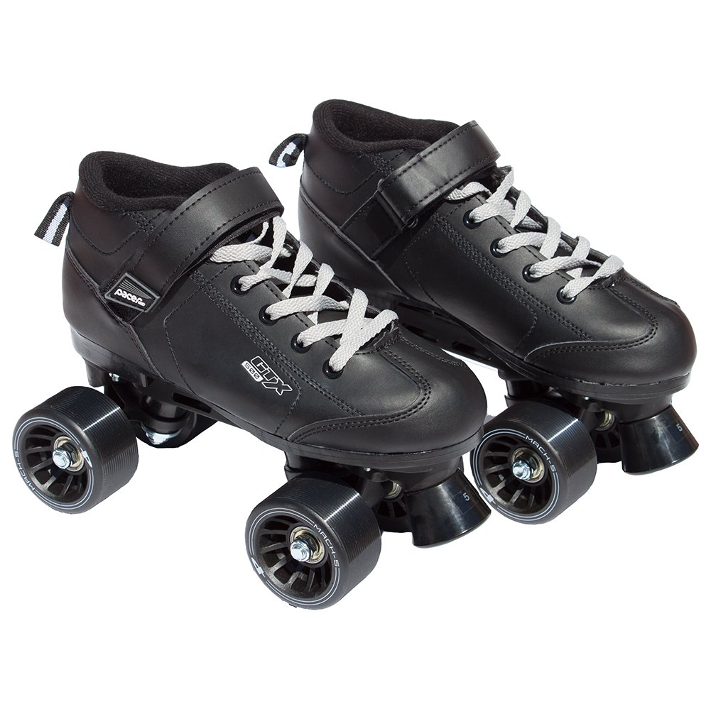 Black Pacer Mach-5 GTX500 Quad Speed Roller Skates (Mens 6 / Ladies 7)