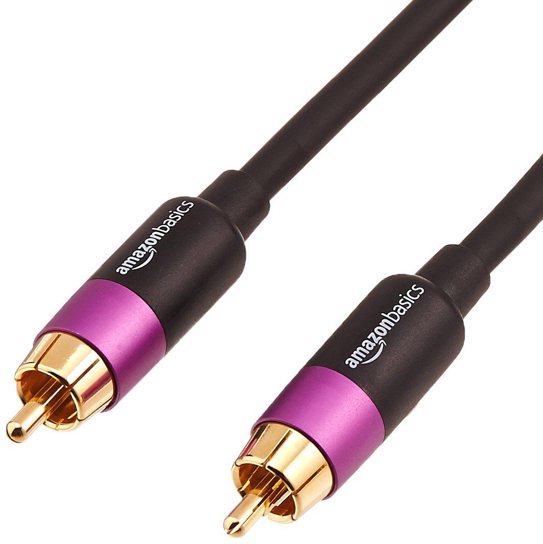 AmazonBasics - Cable para subwoofer (4,6 m) product image