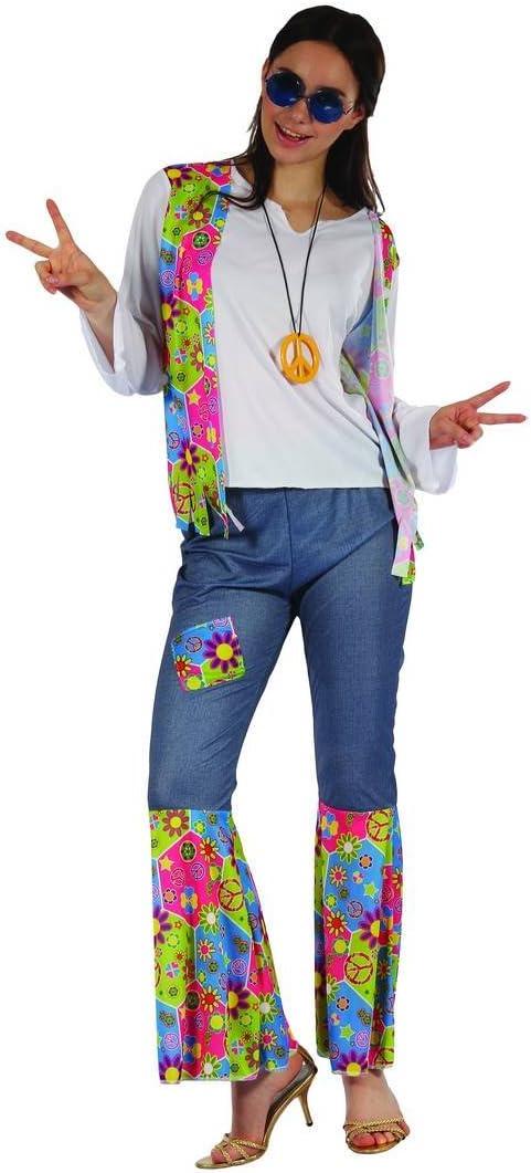 Disfraz hippie mujer M: Amazon.es: Juguetes y juegos