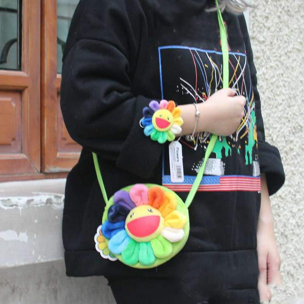Cartoon niedlich Geldb/örse f/ür Kinder Erwachsene Kinder Tag Geschenk Geburtstagsgeschenk Blau-Yan Bunte Sonnenblume Cross-Body Bag
