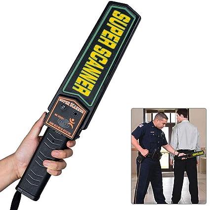 Detector de metales de seguridad, alta sensibilidad, escáner de cuerpo de mano, alerta