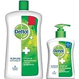 Dettol Liquid Hand Wash Jar Original 900 ml with Free Dettol Handwash 200 ml (Any Variant)