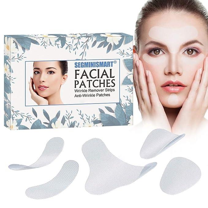 Hals Stirn L/ächeln Ellepigy Anti-Falten-Patches Anti-Falten-Streifen gl/ättende Silikon-Patches f/ür Gesicht Auge feine Linien