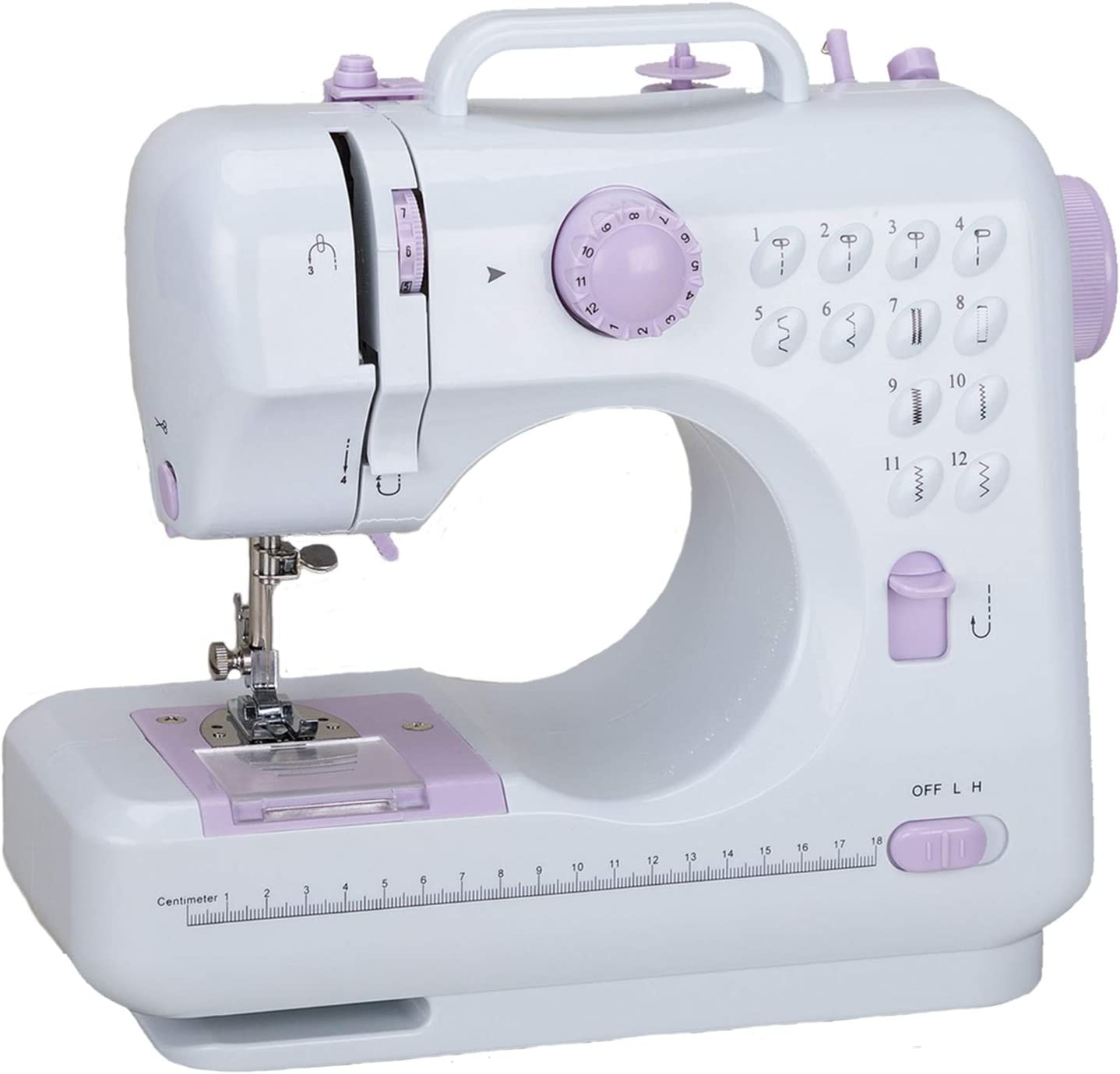 Electric Lightweight Sewing Machine with 12 Floral Stitch Household Sewing Machine for Beginners Multifunction Tailor Machine for Home