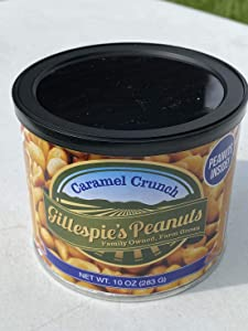 Caramel Crunch 10oz cans Gillespie's Peanuts grown on our family farm! cc (1 10oz Can)