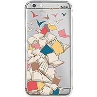 Capa Personalizada Livros Voando, Husky para iPhone 6 Plus / 6S Plus, Capa Protetora para Celular, Multicor