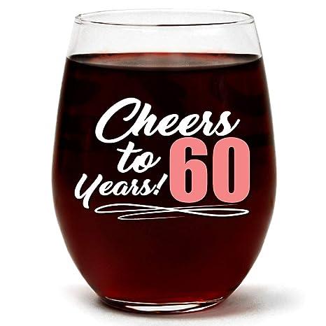 Amazon.com: Copa de vino transparente sin tallo para regalo ...