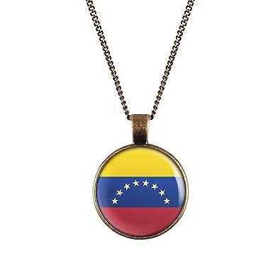 0882c9f436 Collar de la bandera de Venezuela WeAreAwesome - países de cadena con una bandera  colgante Unisex Cadena  Amazon.es  Joyería