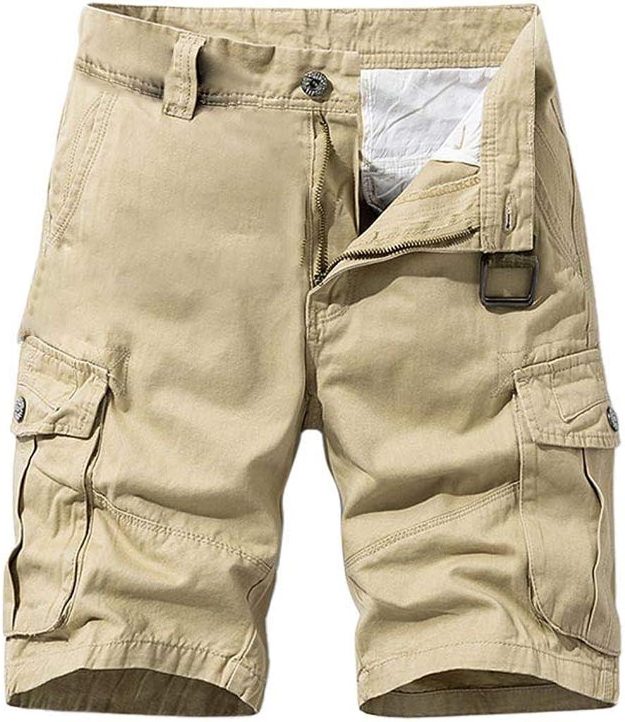 JiaMeng-ZI Pantalones Cortos Hombre Pantalón Cargo Verano Pantalones Cortos de Trabajo Shorts Fashion Pant Multibolsillos Casual Bermuda Pantalones Cortos de Anchos Deportivos