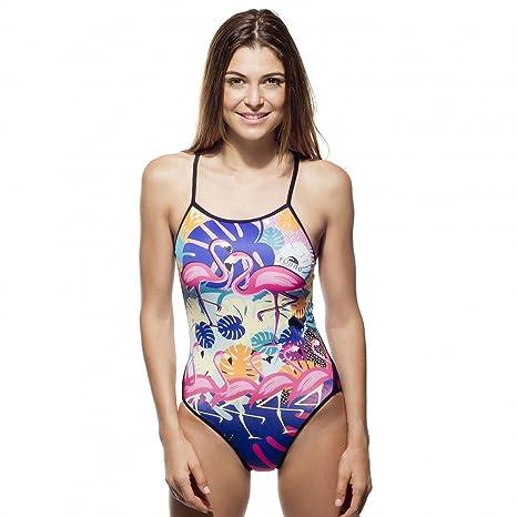 Turbo Flamingo - Bañador Mujer - Multicolor Talla XL | US 36 2017
