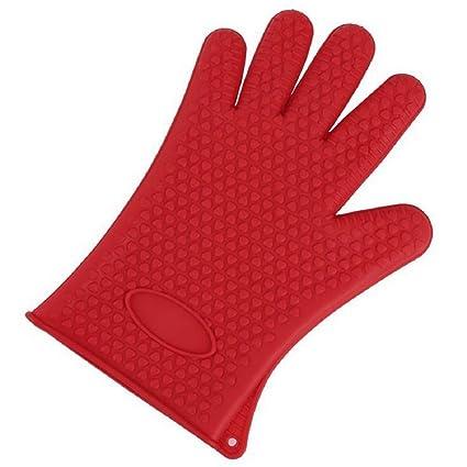 NB profesional guantes de horno de silicona resistente al calor manopla y al aire libre guantes