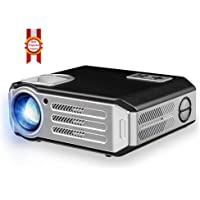 BOSS S11 5700 Lumens HD Portable Projector Support USB/WiFi/HDMI/VGA/AV Input/ Audio Input for Movies, Home Cinema, Theater, Training, Office, Auditorium, Restaurant