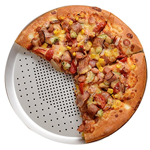 Pizza Pizza tray Round Aluminum alloy Pizza tray punching Zhixin plate Pizza tray Baking tray 10/12/15inches Cookware