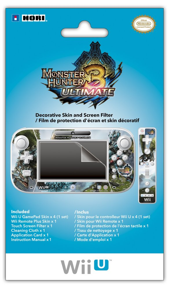 Monster Hunter 3 Ultimate Filter And Skin Set Nintendo Wii U