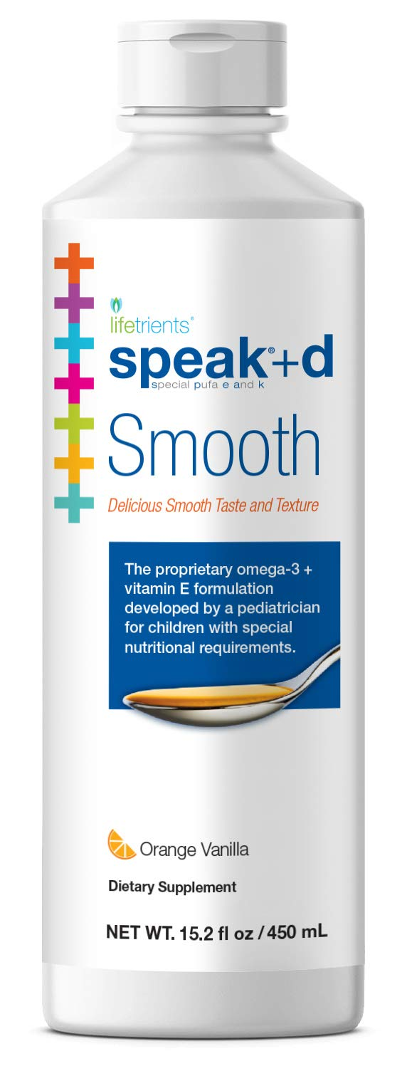 Lifetrients Speak+D Smooth – Orange Vanilla – 15.2 oz | Pediatrician Formulated to Support Children with Special Nutritional Requirements | Enhanced with Omega-3, Vitamin E's, Vitamin D & Vitamin K's