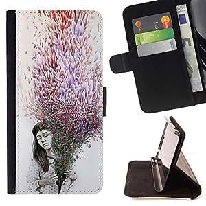 "For Samsung Galaxy J3(2016) J320F J320P J320M J320Y,S-type Significado Deep Purple Gris oscuro emotivo"" - Dibujo PU billetera de cuero Funda Case Caso de la piel de la bolsa protectora"