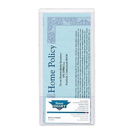 Amazon storesmart brochure holder with business card pocket storesmart brochure holder with business card pocket clear vinyl plastic 10 pack colourmoves