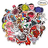 cool vinyl stickers - Naisidier Car Decals Vinyl's Bumper Stickers Graffiti Decals for Personalize Laptops, Skateboards, Luggage, Cars, Bumpers, Bikes, Bicycles - Random Sticker Pack (200pcs)