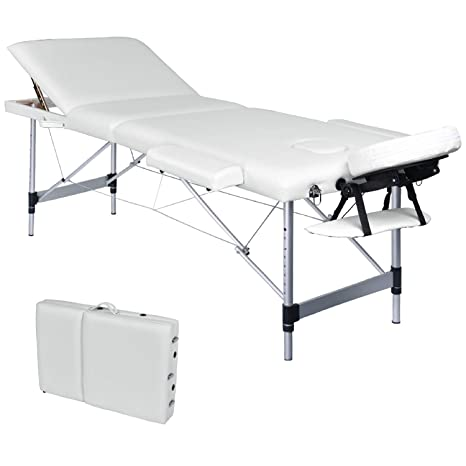 Lettino Da Massaggio Portatile In Alluminio.Wellhome Lettino Da Massaggio 3 Zone Alluminio Pieghevole
