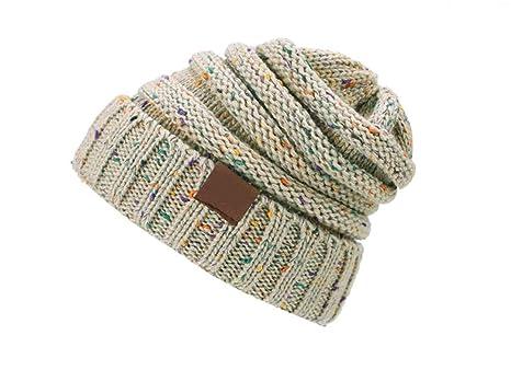d8fe4073053 Ponytail Beanie Hat Women Crochet Knit Cap Winter Skullies Beanies Warm  Caps Female Knitted Stylish Hats