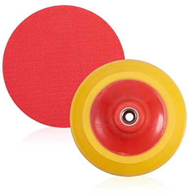 "JSCARLIFE 5"" DA Polisher & Sander Pad - Hook & Loop Face - Random Orbital Backing Plate(5inch): Automotive"