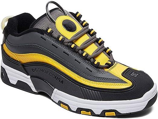 Top Sneaker Shoes Gray Black Yellow
