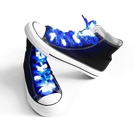 Nylon Accende LED 1paio per Lacci 3 easyDecor scarpe modalitš Rv6qxpwf