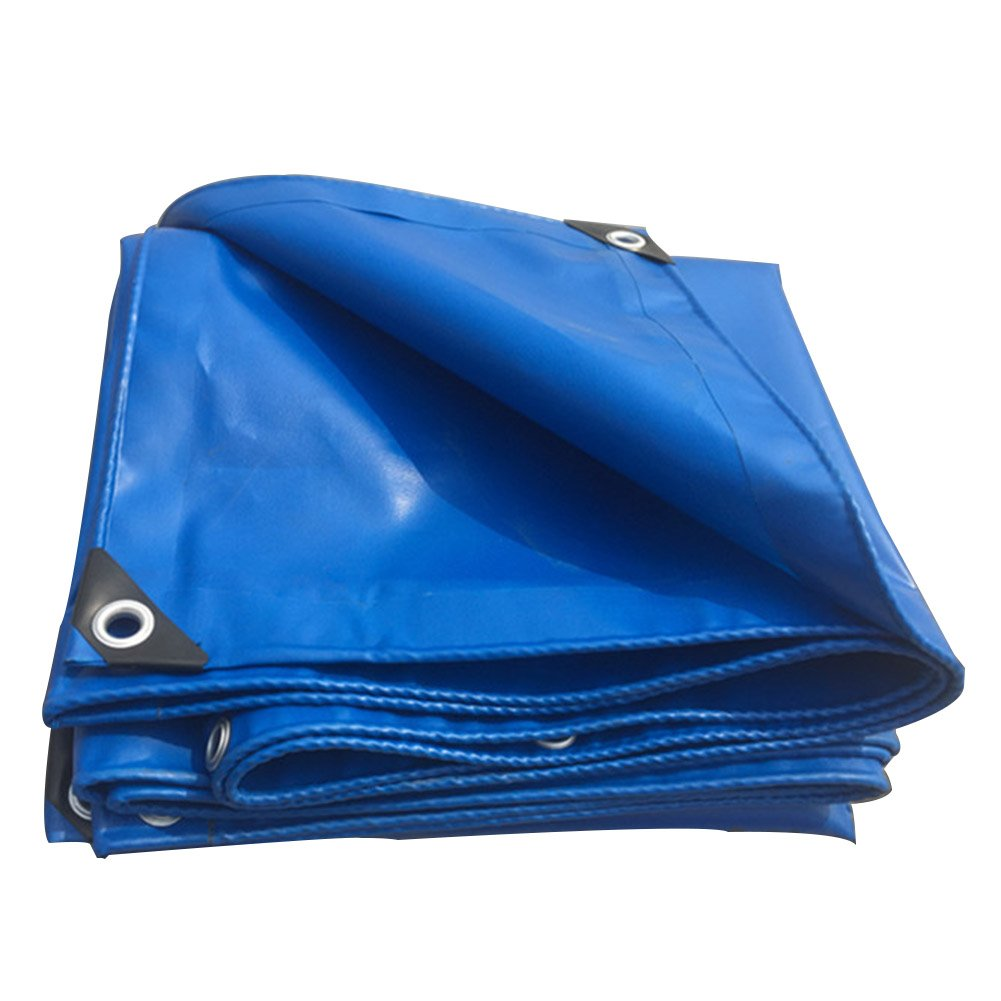 Tarpaulin blueee color PVC Plus Thick Rain Cloth Waterproof Sun Predection 8 Kinds Size Can Be Used for Warehouses Construction Trucks Factories and EnterprisesGulf Pier (Size   3 x 5m)