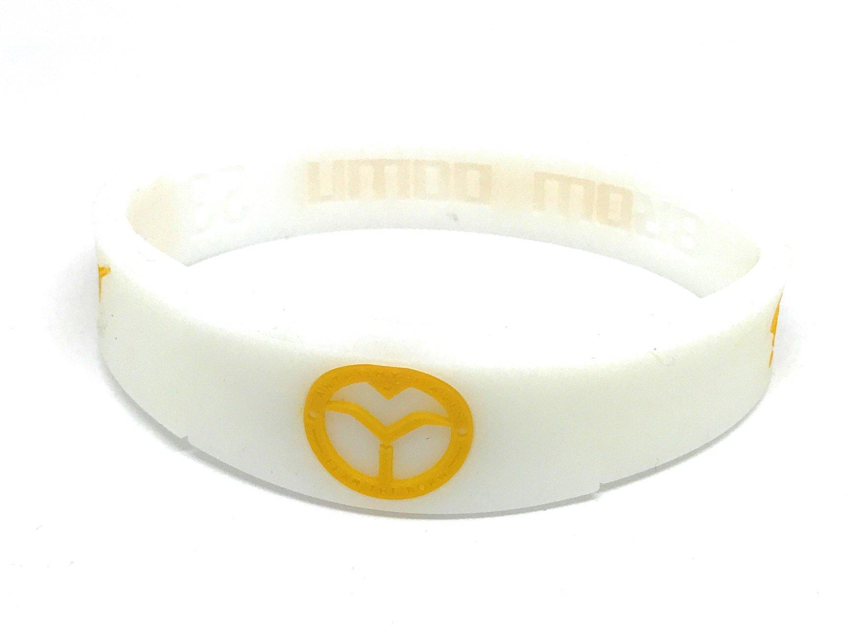 KIDS SportsBraceletsPro REVERSIBLE KIDS Wristband KIDS SIZE 6.7'' Size Bracelet (Davis KID 6.7'' White)