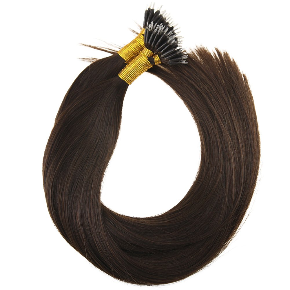 Youngsee 22inch Nano Rings Remy Hair Extensions Piano Colour 16