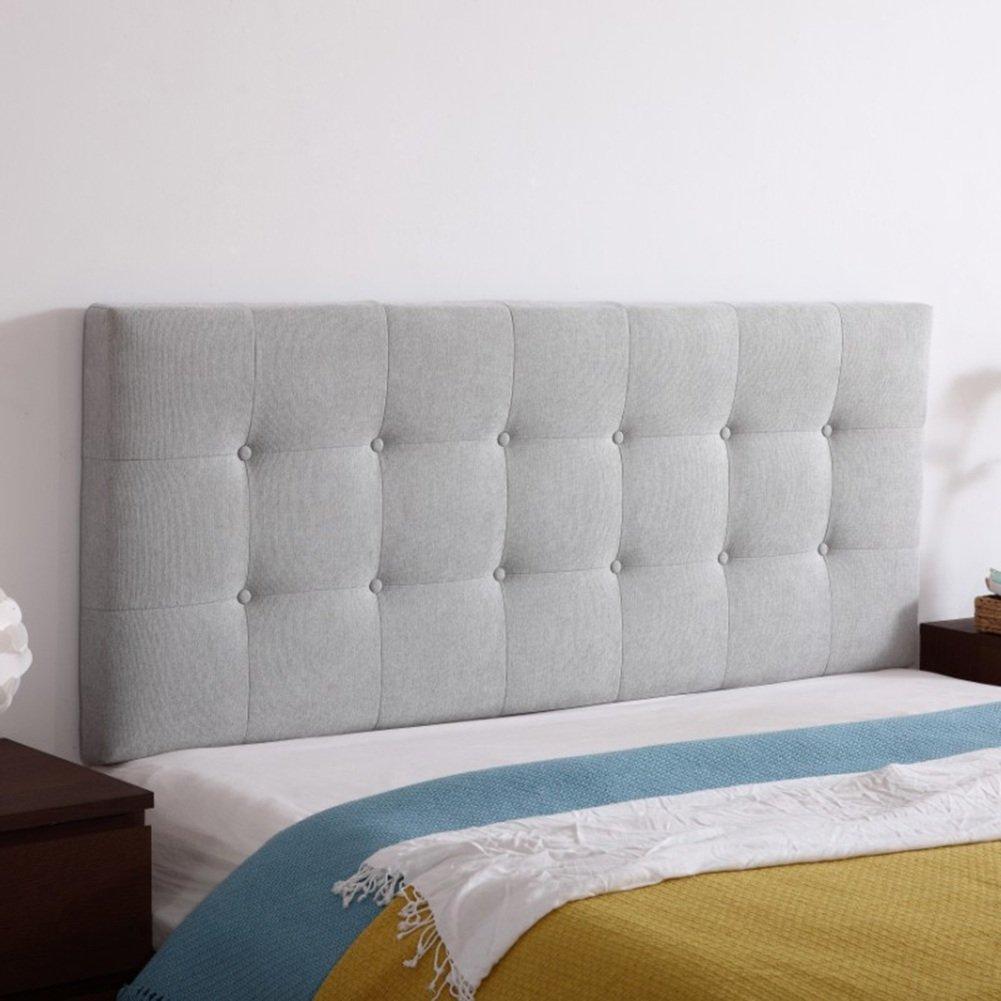 QiangDa Rückenlehne Bett Kissen Rückenkissen Aus Stoff Ohne Kopfteil Soft-Pad Am Bett Lordosenstütze Antikollisionskopf Für Einzel-   Doppel Schlafzimmer, 11 Feste Farben, 4 Größen Wahlweise