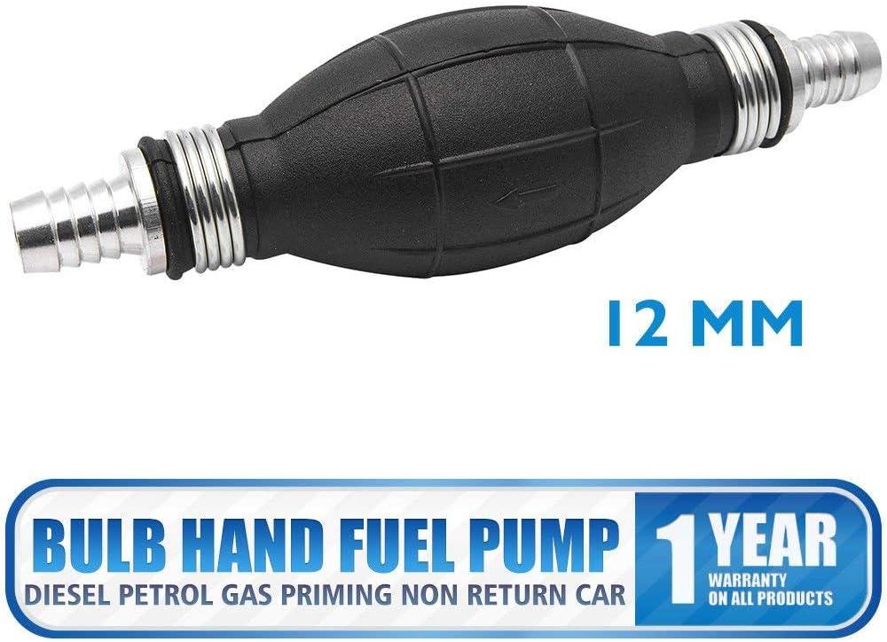 HugeAuto per diesel e benzina colore nero non restituisce lauto Pompa manuale per carburante da 10 mm