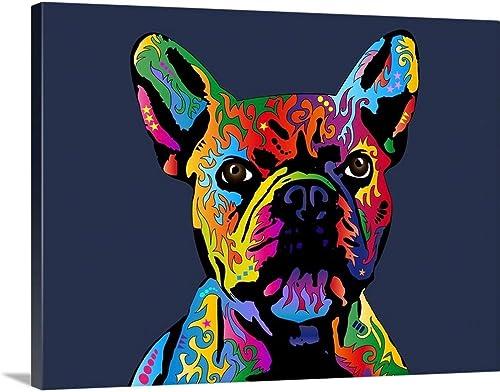 French Bulldog Canvas Wall Art Print