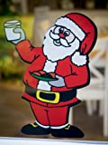 Stickers4 Santa Double Sided Window Cling - Seasonal Window Decorations by (Small)