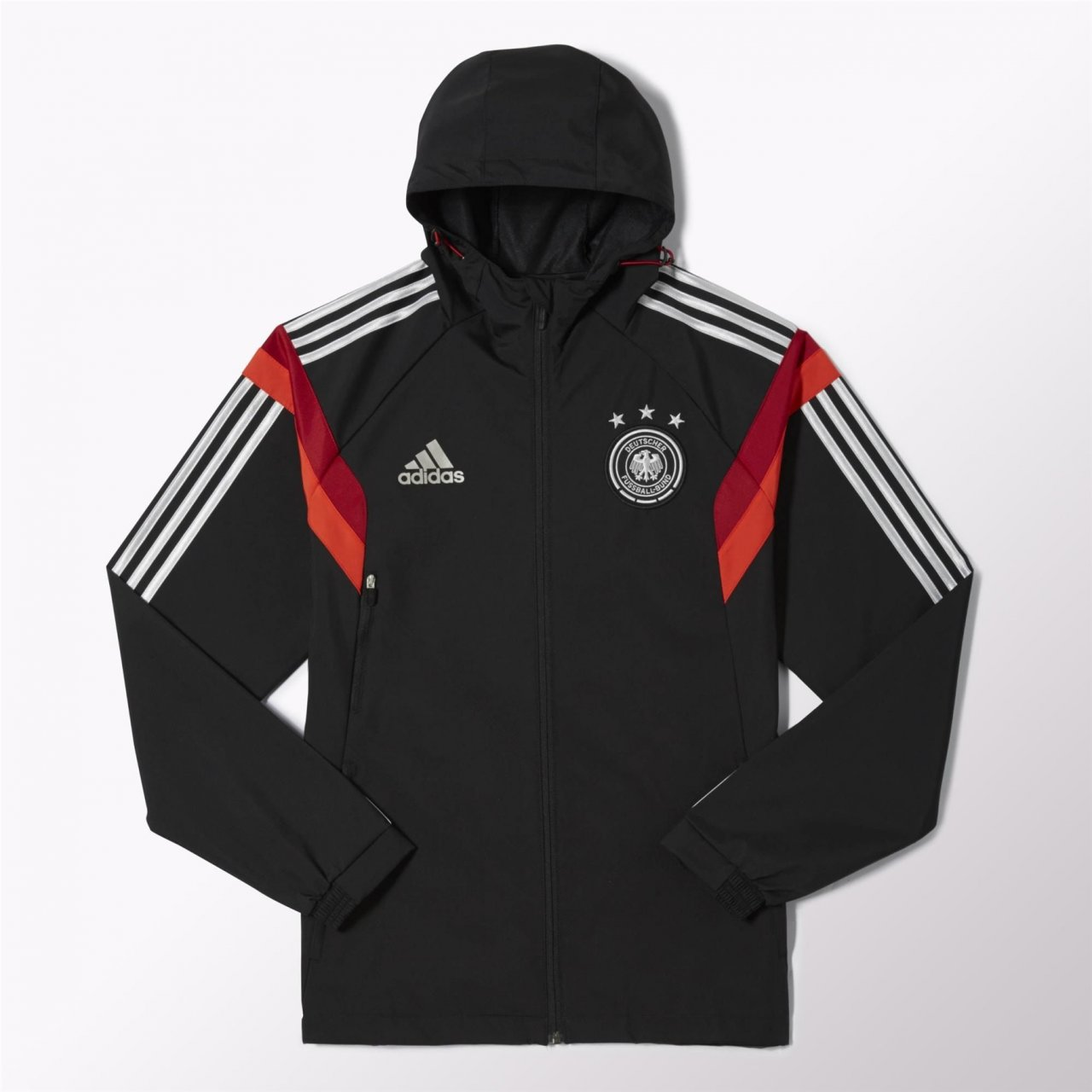Adidas DFB Fanshop Deutschland Dfb trav Jacke Blacksilver