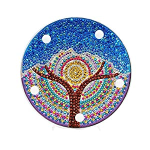 Prosperveil DIY 5D Diamond Painting Tree Kits with Warm White LED Lights Kids Bedroom Night Light Table Lamp Battery…