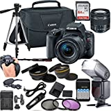 Canon EOS Rebel SL2 DSLR Camera w/ 18-55mm Lens + LCD Display TTL Flash + Stabilizing Wrist Grip + 64GB Memory + Canon Case + Tripod + Remote + More - Professional Bundle