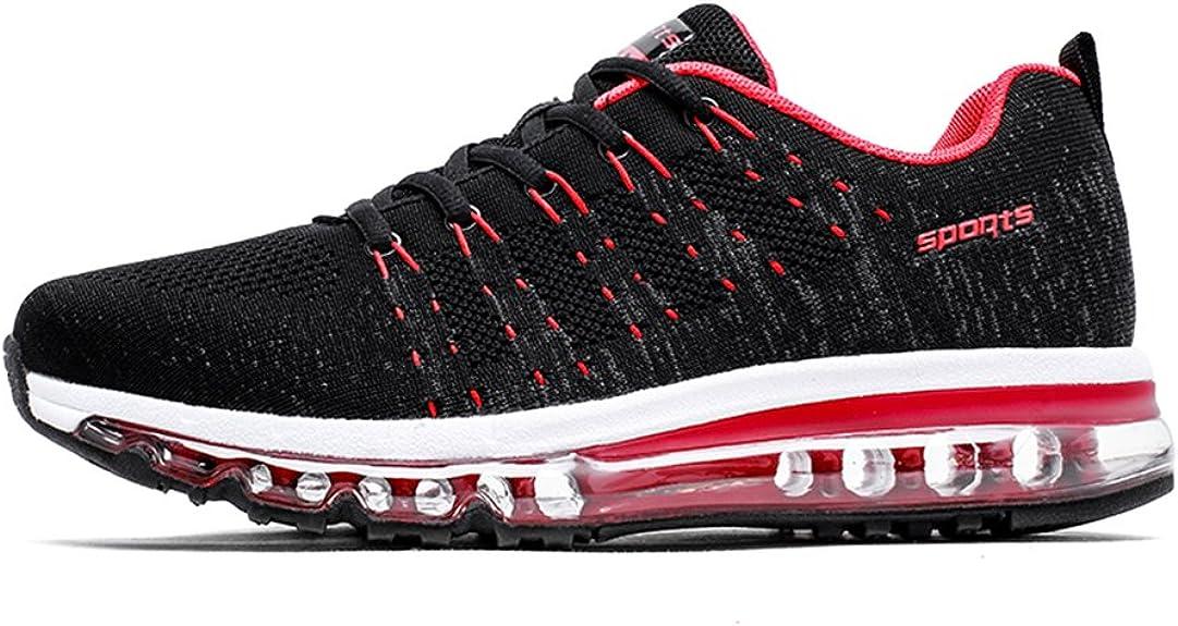 Fexkean Zapatos Aire Libre y Deporte Gimnasia Zapatillas Running Respirable Deportivos Sneakers para Hombre Mujer(8067Red44): Amazon.es: Zapatos y complementos