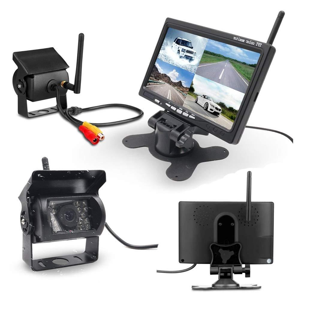 kit per visione notturna sistema di assistenza al parcheggio monitor LCD TFT da 7 impermeabile Telecamera di retromarcia wireless per auto