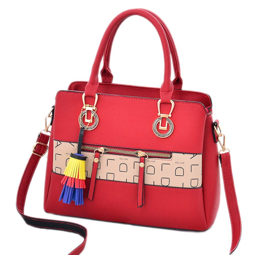 Women Classic Weekender Tote Medium-Size Satchel Style Handbag