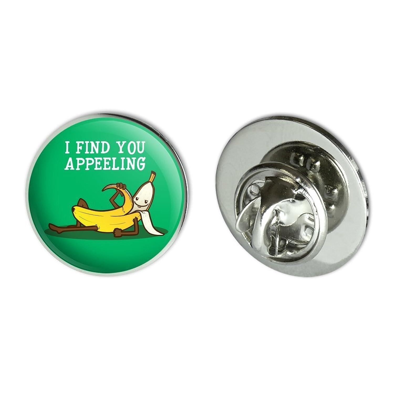 GRAPHICS /& MORE Banana I Find You Appeeling Funny Pun Metal 0.75 Lapel Hat Pin Tie Tack Pinback