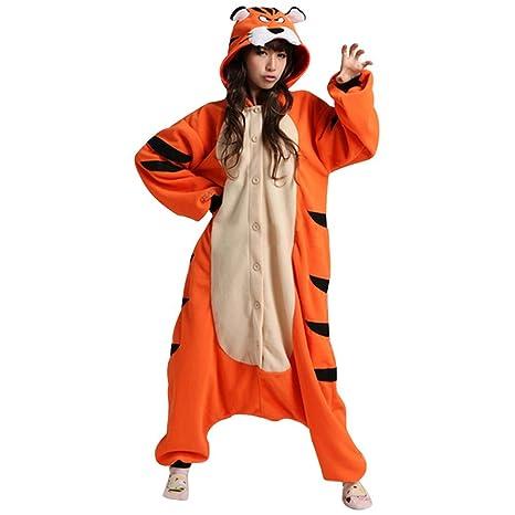 Ferrand Kigurumi Pijamas Unisexo Adulto Traje Disfraz Animal Adulto Animal Pyjamas Tigre De Bengala XL
