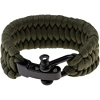 MagiDeal Survival Outdoor Buckle Rope Paracord Bracelet Shackle with Adjustable Stainless Steel U Shaped Hook Sports Accessories