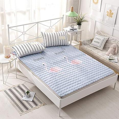 Love House Protector de colchón Lavable de algodón Premium, del Delgado colchón hipoalergénico Tatami Alfombrilla
