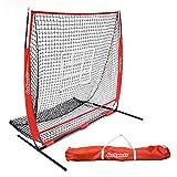 GoSports 5'x5' Baseball & Softball Practice Pitching & Fielding Net with Bonus Strike Zone, Great for all Skill Levels
