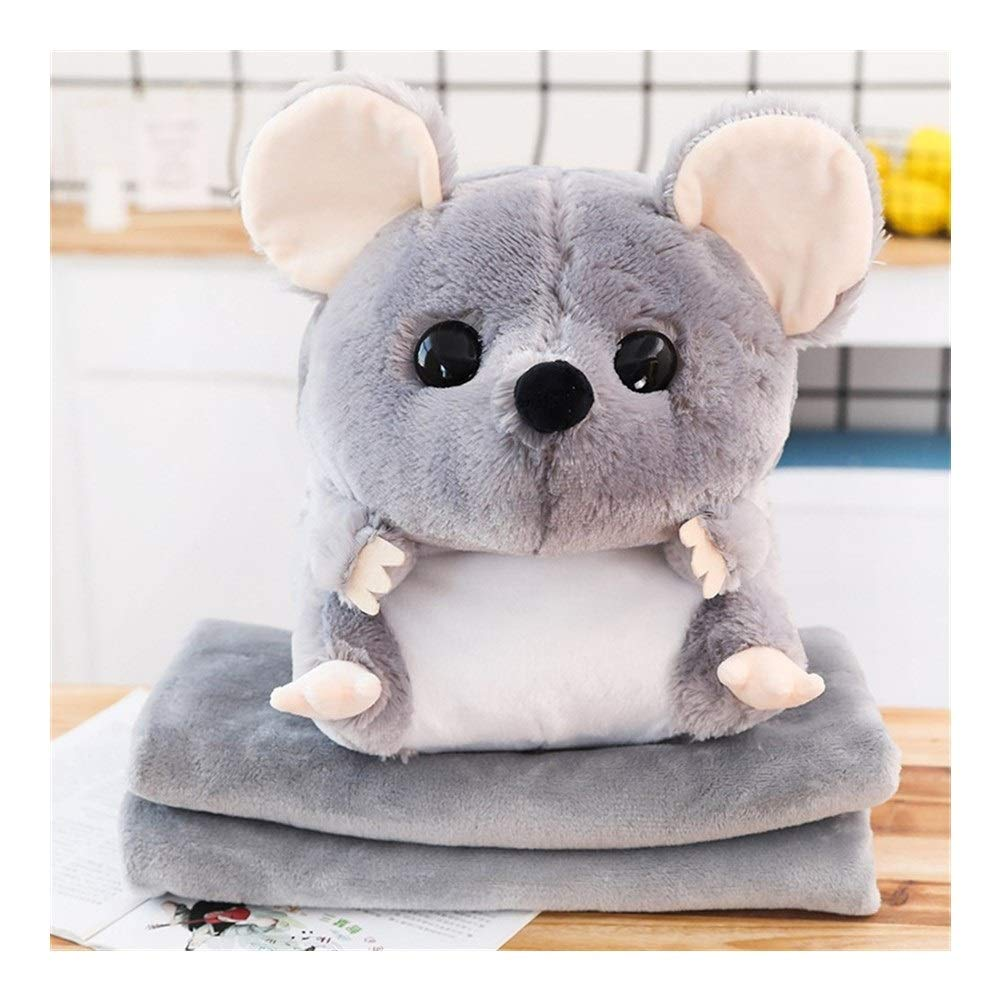 Lucy Day Pillow Blanket Cute Hamster Car Pillow Dual Air Conditioning was Pillow Cushions Blankets Large Coral Carpet Child Color : 8, Size : Blanket 1 * 1.7 m