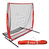 GoSports 5'x5' Baseball & Softball Practice Pitching & Fielding Net with Bonus Strike Zone, Great for all Skill Levels